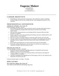 Sample Resume For Retail Manager by Example Resume For Retail