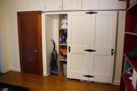 Closet Door Ideas Diy by Endearing Diy Barn Style Closet Doors Roselawnlutheran