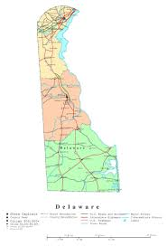 United States Map Delaware by Large Detailed Administrative Map Of Delaware State With Roads