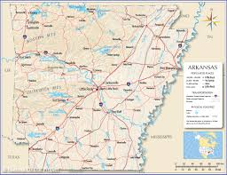 Time Zone Map Usa With Cities by Reference Map Of Arkansas Usa Nations Online Project
