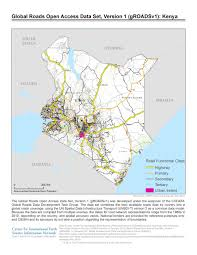 Map Of Kenya Africa by Roads An Essential Element Of Development