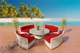 Wicker Outdoor Furniture Sets by Cassandra White Wicker Patio Furniture 1