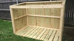 Plans For Building A Wood Storage Shed by Building A Garbage Can Enclosure Part 1 Youtube