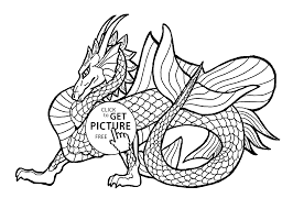 dragon coloring pages for kids printable free