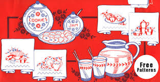 Free Kitchen Embroidery Designs by Vintage Embroidery Designs Dishware Set Tipnut Com