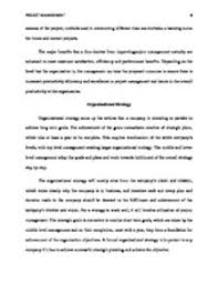 Research Paper Project Management Focus of the Research Paper This