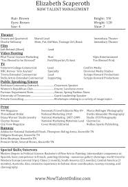 Professional Acting Resume Template Acting Resume Samples for Beginners Free Headshot Resume Template Free Theatre Resume