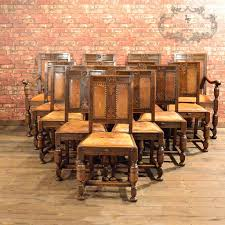 set of 14 gothic revival oak dining chairs antique chairs and