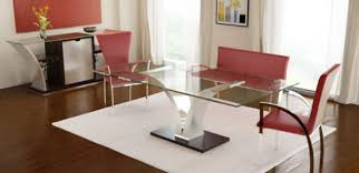 Contemporary Dining Room Table by Modern Glass Dining Room Tables Agrandmaslove Pertaining To Modern