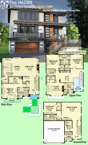 Massive House Plans by Plan 14633rk Master On Main Modern House Plan Modern House