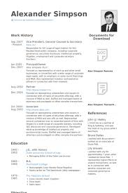 Legal Resume Sample by General Counsel Resume Samples Visualcv Resume Samples Database