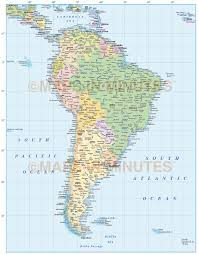 Political Map Of South America Map South America Political Division Countries Stock Vector Want