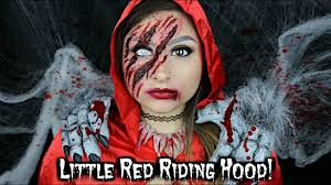 Wolf Halloween Costume Red Riding Hood Wolf Hunter Halloween Makeup Tutorial