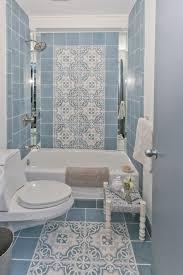 Bathroom Tile Ideas Traditional Colors Minimalist Blue Tile Pattern Bathroom Decor Also Cute Bathtub