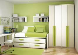 Wall Mounted Cupboards Bedroom Adorable Green Theme Bedroom Interior Decorating Design