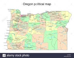 Oregon Map by Oregon State Map Stock Photos U0026 Oregon State Map Stock Images Alamy