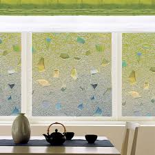 stained glass door film privacy no glue static frosted window tint film stained glass