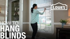 how to hang blinds youtube