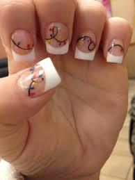 christmas lights nail design acrylic nails nail designs i u0027d