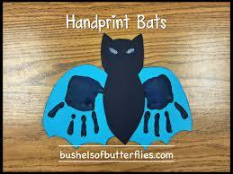 handprint bats art halloween projects kindergarten fun october
