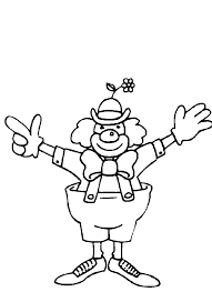 happy clown coloring page circus pages to print for toddlers
