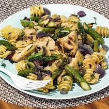 Pasta Recipes Roasted Garlic Artichoke And Asparagus Pasta Recipe Myrecipes