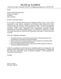 Examples Of Resume Cover Letters Generic Examples by Example Of Cover Letters For Resumes Operations Production Cover