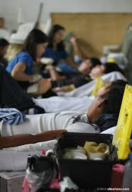 In this file photo  a line of unpaid blood donors share their support in one Bro  Eli Soriano