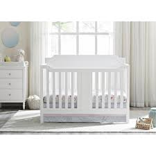 White Convertable Crib by Dorel Morgan 2 In 1 Convertible Crib White