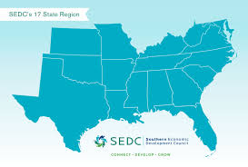 State Of Tennessee Map by Sedc State Map Southern Economic Development Council