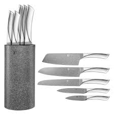 kitchen herzog 8 piece knife set with acrylic stand also best