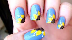 sunflower nail art tutorial youtube