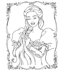 FUN & LEARN : Free worksheets for kid: Barbie coloring pages