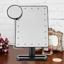 Light Up Makeup Mirror Ovonni 10x Magnifier Led Touch Screen Makeup Mirror Portable 20