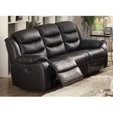 ac pacific bennett leather reclining sofa u0026 reviews wayfair