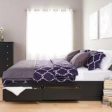 amazon com black king mate u0027s platform storage bed with 6 drawers