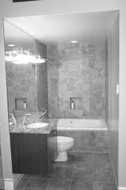 Bath And Shower In Small Bathroom Bathroom White Freestanding Bathtub Light Hardwood Flooring
