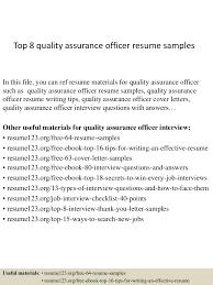 Best Resume Format For Quality Assurance by Top8qualityassuranceofficerresumesamples 150402093849 Conversion Gate01 Thumbnail 4 Jpg Cb U003d1427985571