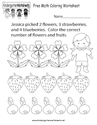 math coloring worksheet free kindergarten learning worksheet for