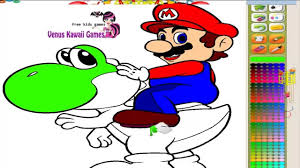 nintendo super mario u0026 yoshi coloring game for childrens youtube