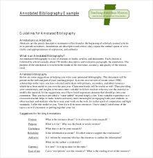 Sample Annotated Bibliography APA