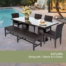 Outdoor Seating by Outdoor Wicker Dining Set Patio Dining Set With Bench