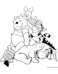 winnie the pooh u0026 friends coloring pages 4 disney coloring book