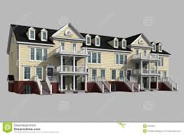 House 3d Model Free Download by 3d Model Of Condominium Royalty Free Stock Photography Image