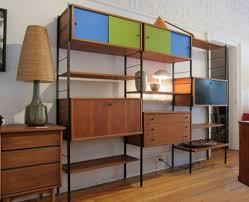 teak danish modern wall shelf unit bookshelf poul cadovius at