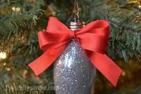 glitter light bulb christmas ornament typically simple