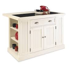Home Style Kitchen Island Home Styles Nantucket Distressed White Kitchen Island With Stools