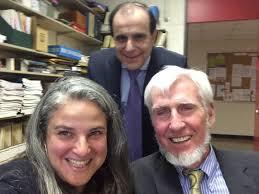 Dr  Veronique Bohbot  bottom left  with her postdoctoral supervisor Dr  Michael Petrides