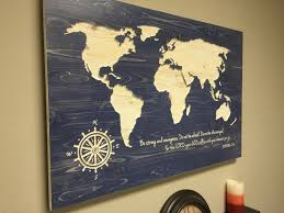World Map Pinboard by World Map Wall Art Spiritual Vintage Carved Wood Map Modern