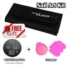 amazon com nail art kit with free nail stamp plate kit 20 nail